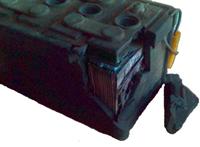 Лом аккумуляторов, аккумуляторы в эбонитовых корпусах.
